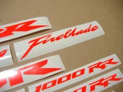 Honda 600rr/1000rr custom neon fluo red stickers kit