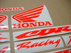 Honda 600rr/1000rr custom neon fluo red decal kit