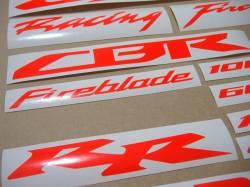 Honda 600rr/1000rr custom signal red stickers set