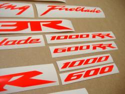 Honda 600rr/1000rr custom fluorescent red graphics