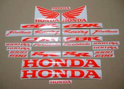Honda 600rr/1000rr customized signal red decals set