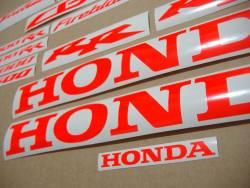 Honda CBR Fireblade customized neon red decals set