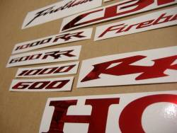 Honda 600RR/1000RR Fireblade chrome burgundy red decals