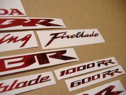 Honda 600RR/1000RR Fireblade chrome burgundy red graphics