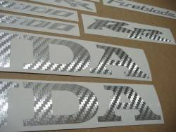 Honda 1000RR/600RR custom silver carbon decals kit