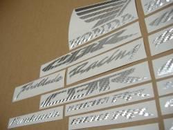 Honda CBR Fireblade silver carbon fiber stickers