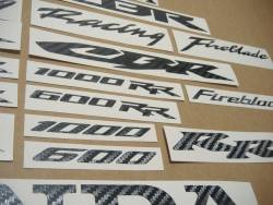 Honda CBR 600/1000 RR carbon logo adhesives/labels set