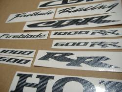 Honda CBR F2/F3/F4 or 125R carbon logo decals set