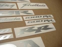 Honda CBR 600RR F4 customized silver grey adhesives set