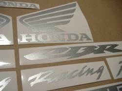 Honda CBR 600RR F4 customized silver grey stickers set