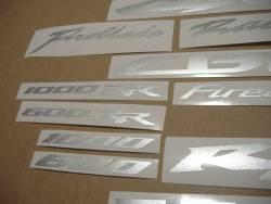 Honda CBR 1000RR Fireblade metallic silver grey adhsives
