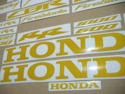 Honda CBR 1000 RR light reflective yellow logo stickers