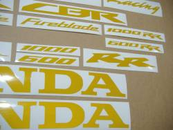 Honda 1000 RR signal high visibility yellow logo decals