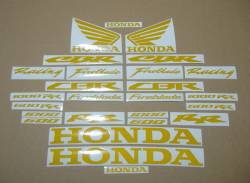 Honda CBR 600 RR light reflective yellow logo decals