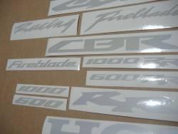 Honda CBR white reflective signal logo sticker kit