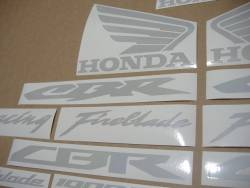 Reflective graphics decals for Honda 600RR or Fireblade