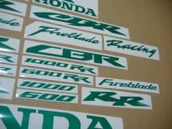 Honda CBR Fireblade light reflective green graphics kit