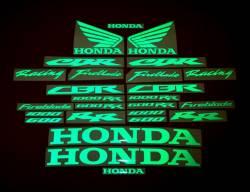 Honda 600rr 1000rr reflective signal green verde decals