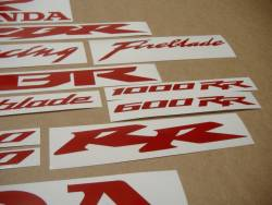 Honda CBR 1000 RR signal reflective red decals set