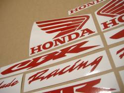 Reflective signal red logo graphics for Honda Fireblade