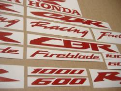 Honda CBR 1000 RR signal reflective red stickers