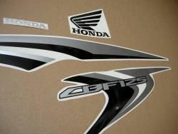 Honda CBF125 2012-2013 white reproduction stickers