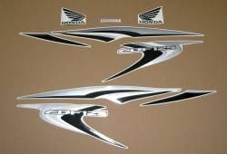 Honda CBF125 2012-2013 white replacement stickers