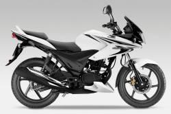Honda CBF 125 2012-2013 white replacement decals