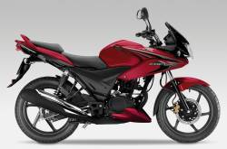Honda CBF125 2012-2013 wine red replacement decals