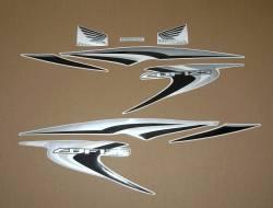 Honda CBF 125 2012-2013 burgundy replacement decals