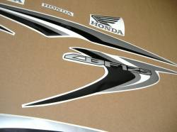Honda CBF 125 2012-2013 bordeaux replica decal set