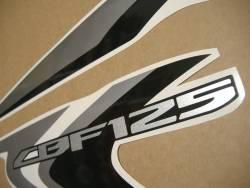 Honda CBF125 2012-2013 burgundy replacement stickers