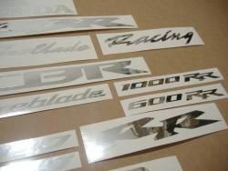 Honda CBR 6001000 RR chrome (mirrored) logo emblems set