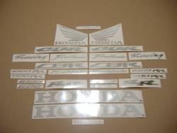 Honda CBR 600RR/1000RR chrome (mirror) silver logo decals