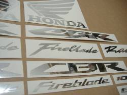 Honda CBR 600RR/1000RR chrome (mirror) grey logo stickers