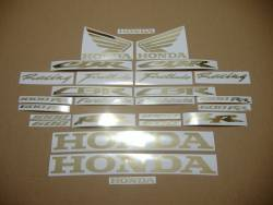Honda CBR 600RR/1000RR chrome (mirror) gold logo decals