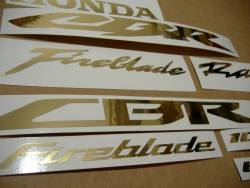 Honda CBR 600RR/1000RR chrome (mirror) golden logo stickers