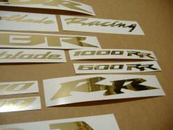 Honda CBR 600RR/1000RR chrome (mirror) golden logo graphics