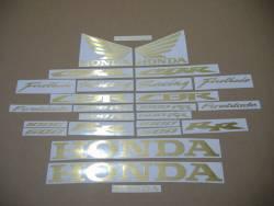 Honda CBR 600RR/1000RR brushed (scratched) gold logo decals