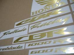 Honda CBR 600RR/1000RR brushed (scratched) golden logo stickers