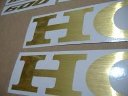 Honda CBR 600 Fireblade brushed (scratched) gold logo adhesives kit
