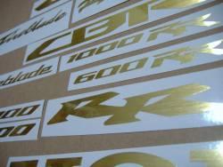 Honda CBR 600RR/1000RR brushed (scratched) golden logo graphics