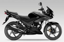Honda CBF 125 2013 black version model stickers set