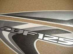Honda CBF 125 2012 black reproduction graphics set