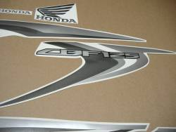 Honda CBF 125 2012-2013 black replica stickers kit