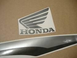 Honda CBF 125 2013 black reproduction decal set