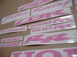 Honda CBR RR customized light (soft) pink logo emblems