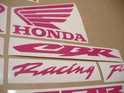 Honda 600 RR custom hot (dark) pink sticker kit