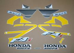 Reproduction stickers for Honda CBR F4 yellow-grey model