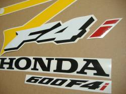 Honda 600 F4i 2004 replacement yellow/grey decals